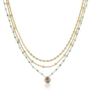 Multi Strand Stone Necklace