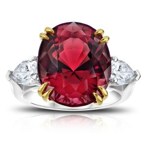 15.13ct Oval Red Spinel Diamond Ring
