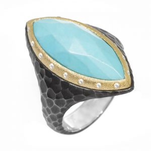 Heritage Marquise Turquoise Silver Ring
