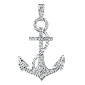 Oceanity Pave Anchor Diamond Pendant