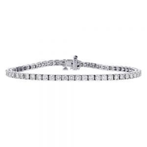 Square Set Box Tennis Bracelet