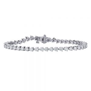 Classic 3 Prong Tennis Diamond Bracelet