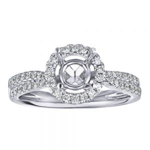 Traditional Halo Double Row Ring Setting