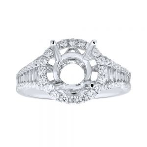 Channel Set Baguette Halo Ring Setting