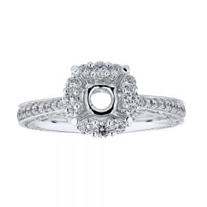 Tapered Halo Ring Setting