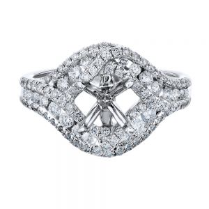 Double Bypass Pave Ring Setting
