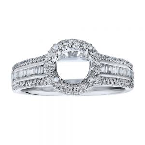Channel Set Micro Pave Halo Ring Setting