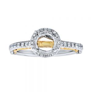 Two Tone Halo Ring Setting