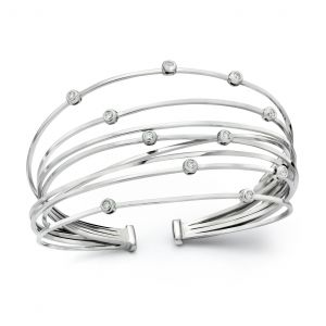 Galaxy Flex Diamond Bangle Bracelet