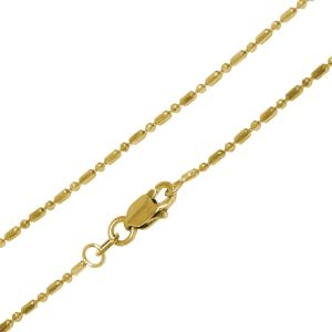 14K Gold Alternating Bead Necklace