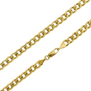 14K Gold Curb Chain Bracelet