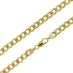 14K Gold Statement Curb Chain Bracelet