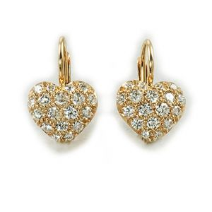 Pavé Sweet Heart Earrings