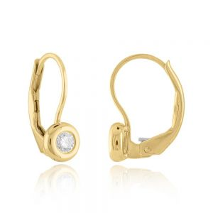 18K Elements Diamond Leverback Earrings