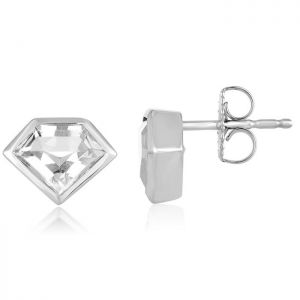 14K Metropolis Rock Crystal Mini Super Studs