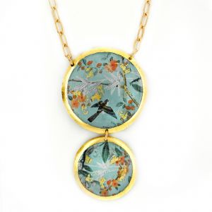 Blue Jay Branch Double Drop Necklace