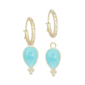 Mia Small Turquoise Gold 18k Dangle Earrings
