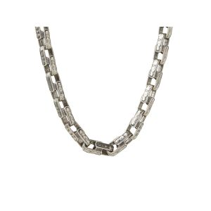 """Silver Large Link Necklace 24"""""""