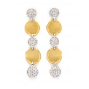 Desert Dream White Yellow 5 Disc Dangle Earring