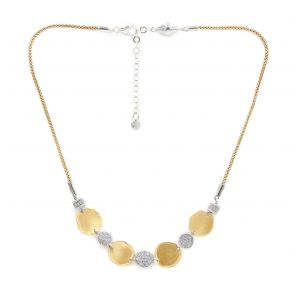 Desert Dream Yellow White Multi Disc Station Necklace