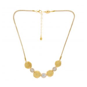 Desert Dream Yellow Multi Disc Station Necklace