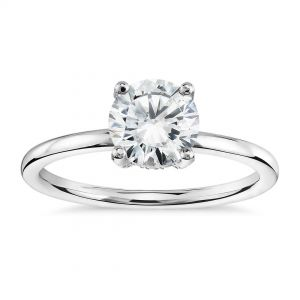 Platinum Four Prong Solitaire Engagement Ring Setting