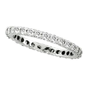 14K Diamond Eternity Band Ring, 1.0cttw