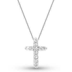 Dazzling 14k Gold and Diamond Cross Necklace