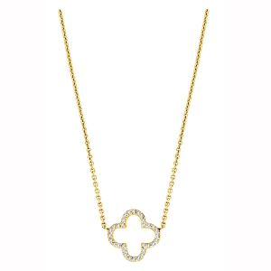 14K Four Leaf Clover Diamond Necklace