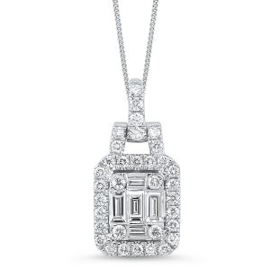 14K Statement Mosaic Swing Diamond Pendant
