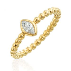 Nutmeg Stackable Marquise Ring