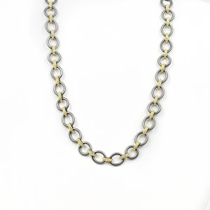 Signature Chunky Mixed Metal Link Necklace