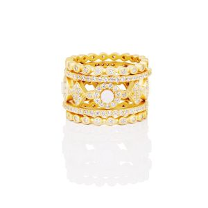 Signaure Mother of Pearl 5-Stack Ring