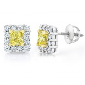 Natural Fancy Yellow Diamond Earrings