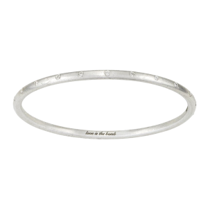 Love Is The Bomb 22 Stone Diamond Bangle Standard
