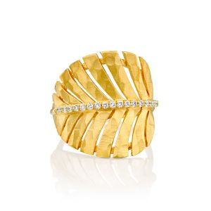Palm Leaf Diamond Ring