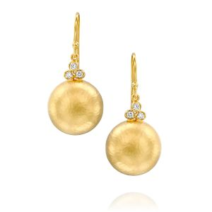 Classic Dome Round Button Earring