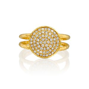 Handcrafted Pave Diamond Dome Ring