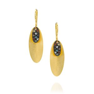 Colored Diamond Pave Drop Earring