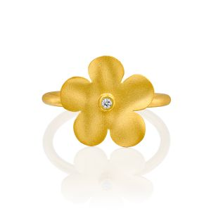 Handmade Flower Diamond Ring