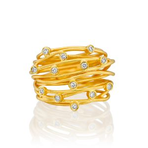 Constellation Ring with Diamonds