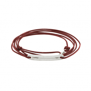 Arrow Tag Wrap Red Leather