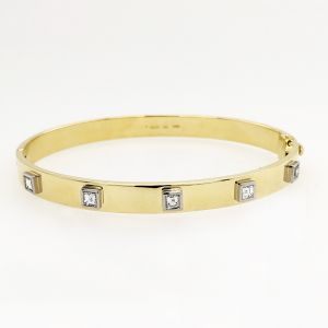 18k Yellow Gold And Platinum Diamond Bracelet