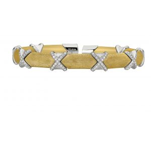 Yellow Vermeil Diamond X Flex Bangle Bracelet