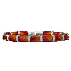 Harvest Ombre Enamel Flex Bangle Bracelet