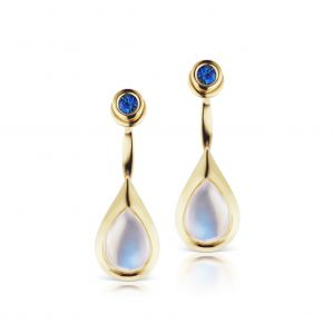 Drop Moonstone Front-To-Back Earrings