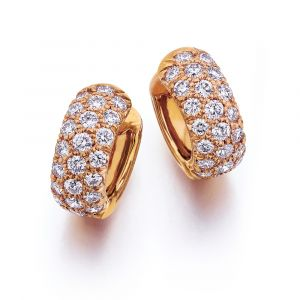 20k Pink Gold Diamond Earring