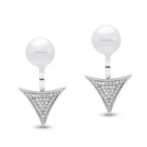 Caprice Triangle Earrings