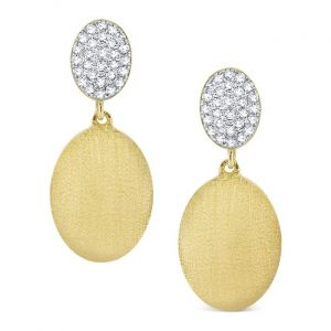 KC Designs 14k Gold and Diamond Oval Drop Earrings
