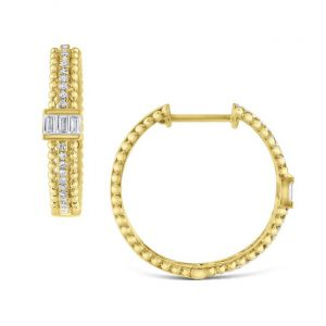 KC Designs 14k Gold and Diamond Hoop Earrrings